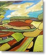Mosaic Landscape Metal Print