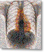Mosaic Of Chest X-ray Metal Print
