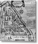 Moscow: Map, 17th Century Metal Print
