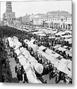 Moscow Russia - The Great Sunday Market - C 1898 Metal Print