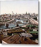 Moscow Russia On The Moskva River - Ca 1900 Metal Print