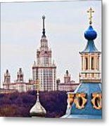 Moscow State Universite  Metal Print
