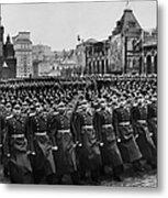 Moscow: Troop Review, 1957 Metal Print