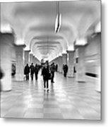 Moscow Underground Metal Print