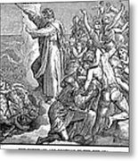 Moses And The Red Sea Metal Print