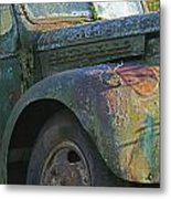 Moss Covered Truck Metal Print