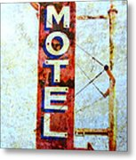 Motel 77 Sign Metal Print