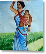 Mother And Child Metal Print by Tanmay Singh