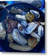 Mother Earth Stones Reloeding Fullmoon Energy In Ice Cold Water Metal Print