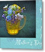 Mother's Day Card - Tiny Wildflower Bouquet Metal Print