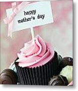 Mother's Day Cupcake Metal Print