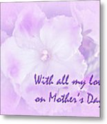 Mother's Day Greeting Card - African Violets Metal Print