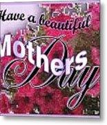 Mothers Day Pink Petunias Metal Print