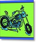 Motorbike 1c Metal Print