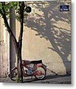 Motorcycle And Tree. Belgrade. Serbia Metal Print