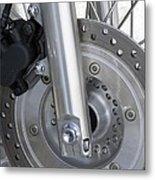 Motorcycle Disc Brake Metal Print by Tony Craddock