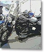 Motorcycle Ride - Three Metal Print