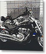 Motorcycle Ride - Two Metal Print