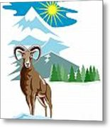 Mouflon Sheep Mountain Goat Metal Print by Aloysius Patrimonio