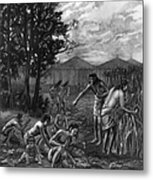 Mound Builders: Farming Metal Print