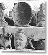 Mound Builders: Pottery Metal Print