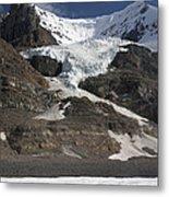 Mount Andromeda And Athabasca Glacier Metal Print
