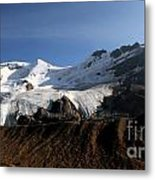 Mount Athabasca From The Columbia Icefields Metal Print
