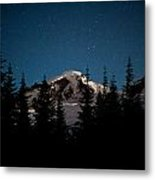 Mount Baker Starry Night Metal Print