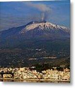 Mount Etna Metal Print