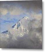 Mount Hood Through Storm Clouds Oregon Metal Print