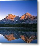 Mount Kidd Reflected In Wedge Pond Metal Print