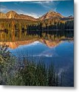 Mount Lassen Reflecting 2 Metal Print