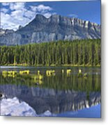 Mount Rundle And Boreal Forest  Metal Print
