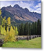 Mount Sneffels And Fence Metal Print