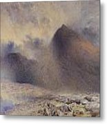 Mount Snowdon Through Clearing Clouds Metal Print