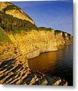Mount St Alban Cliffs At Sunset Metal Print