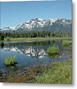 Mount Tallac Sky Projections Metal Print