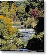 Mount Usher Gardens, River Vartry, Co Metal Print
