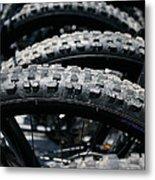 Mountain Bike Tires Metal Print