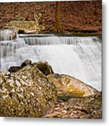 Mountain Cascade Metal Print