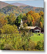Mountain Church Metal Print