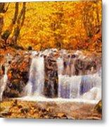 Mountain Creek Falls Metal Print