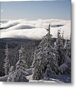 Mountain During Winter Metal Print