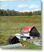 Mountain Farm Metal Print