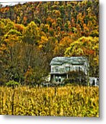 Mountain Home Painted Metal Print