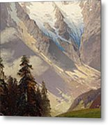 Mountain Landscape With The Grossglockner Metal Print
