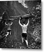 Mountain Lunges Metal Print