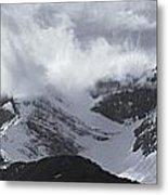 Mountain Panoramic In Winter, Spray Metal Print