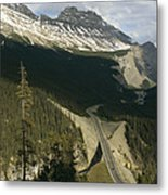 Mountain Peaks Along The Icefields Metal Print