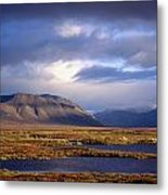 Mountains And Lakes, Dempster Highway Metal Print